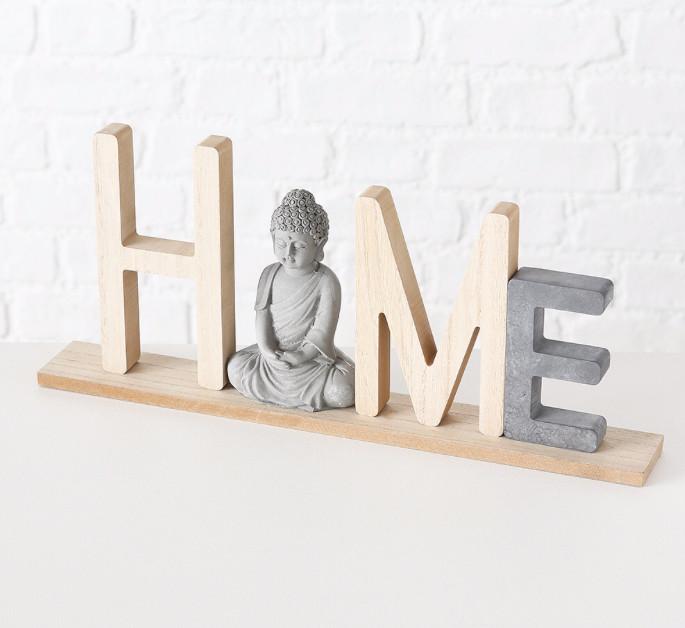 Декоративний напис з фігурою Будди (Home/Relax) МДФ 38*16 см