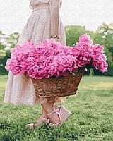 """Картина по номерам Brushme """"Весна в корзине"""""""