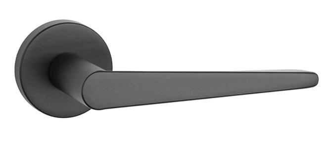 Ручка дверная на розетке Aprile Arnica R 7S черный (Польша)
