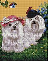 Картина по номерам Brushme Милые болонки