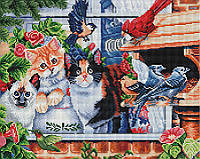 "Картина по номерам Brushme ""Котики в саду"""