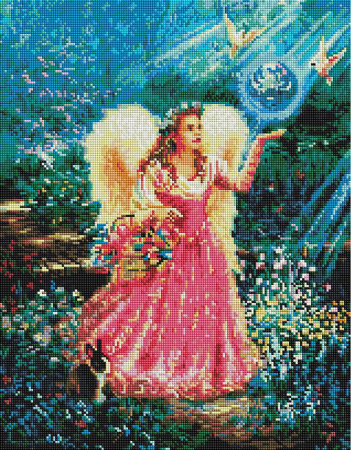 Алмазная мозаика Brushme Ангел в саду