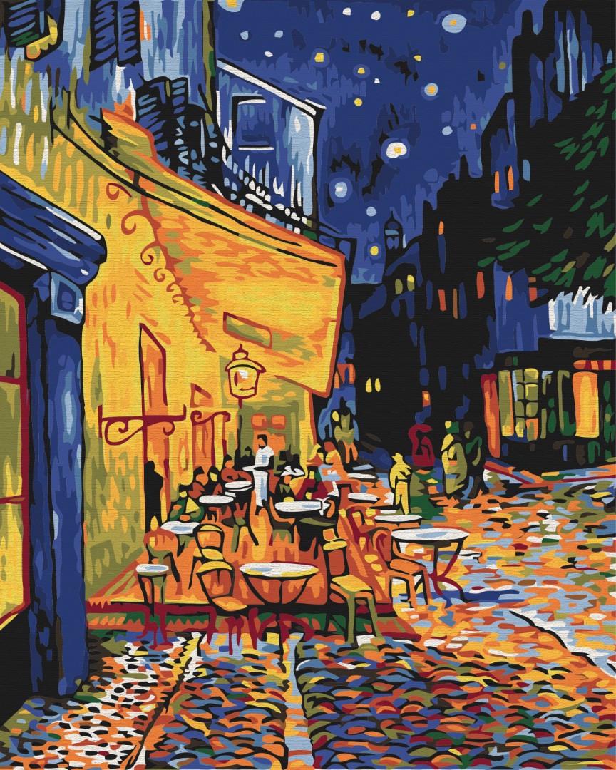 Картина по номерам Brushme Ночное кафе в Арле. Ван Гог