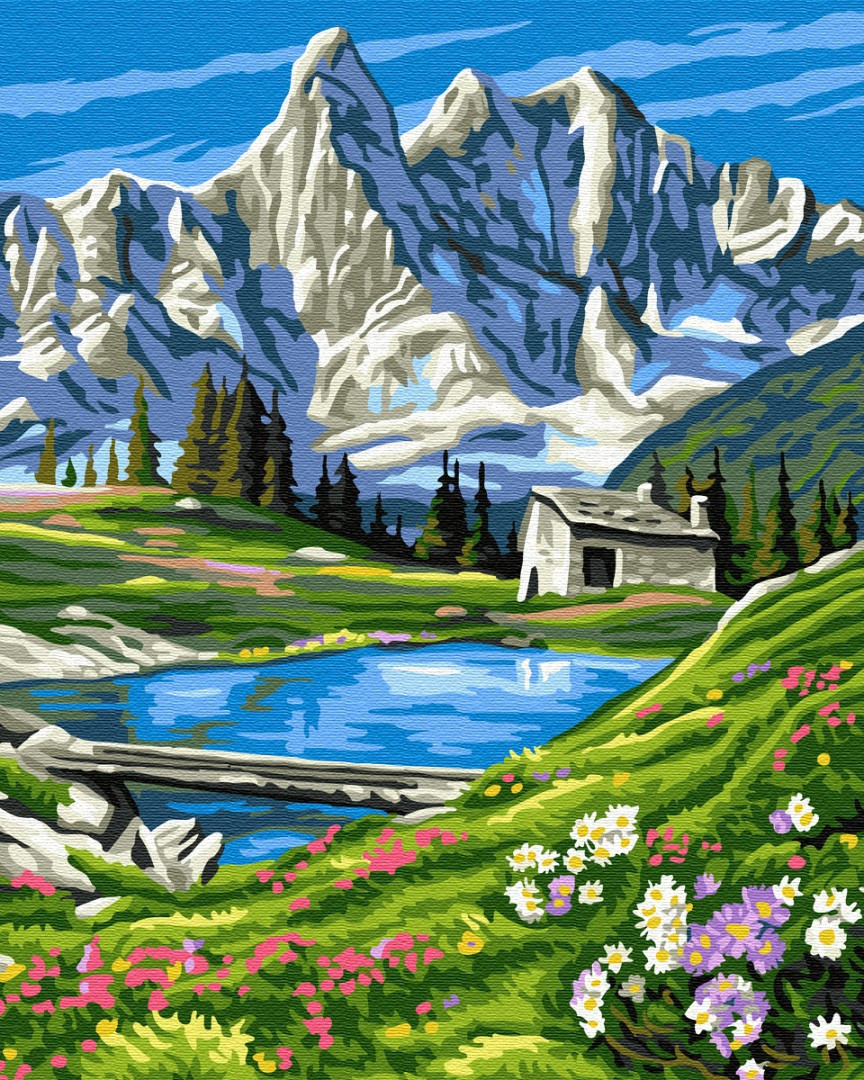 Картина по номерам Brushme Швейцарские Альпы