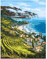 Картина по номерам Brushme Приморский поселок