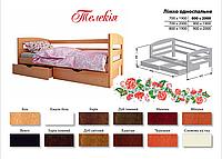 Кровать Телекия (бук массив)