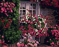 Картина по номерам Brushme Дом в цветах