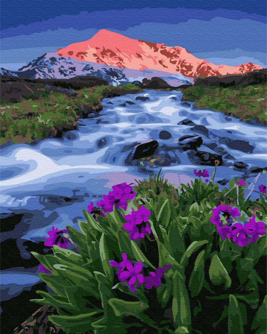 Картина по номерам Brushme Весна у подножья гор