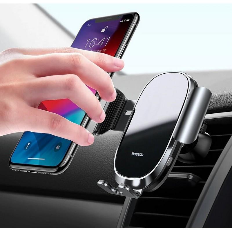 Автодержатель для телефона Baseus Smart Car Mount Cell Phone Черный (20779)