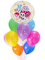 """Готовый набор шаров с гелием """"Малышарики"""" №52"""