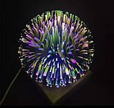 Куля нічник настільний з LED феєрверк\ 3d чарівний куля лампа, фото 2