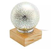 Шар ночник настольный с LED фейерверк\ 3d волшебный шар лампа, фото 3