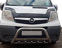Opel Vivaro Передняя защита дуга WT004 с надписью / Кенгурятники Опель Виваро