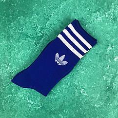 Носки Высокие Женские Мужские Adidas Адидас Синие 39-43