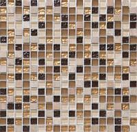 Мраморная мозаика с добавлением стеклянного кубика DAF 4