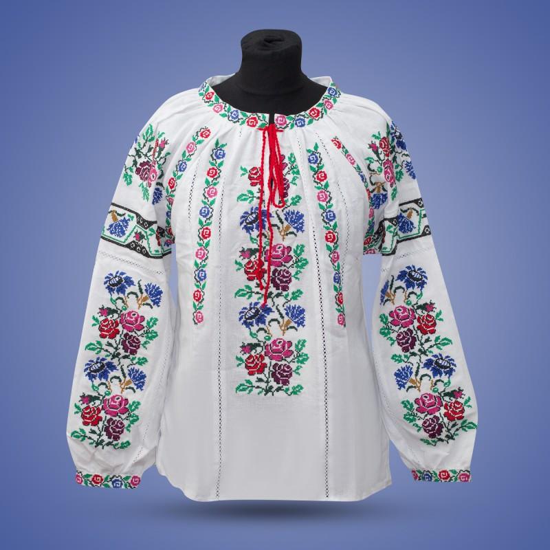 """Вишита блуза """"Мавка""""  на білому"""