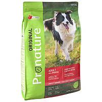 Супер-премиум корм для собак Pronature Original Adult Lamb с ягнёнком (11.3 кг.)