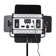 1,2 кВт Набір RGB LED постійного світлодіодного світла TOLIFO GK-S60RGB KIT - панелі 600LEDs 30x19x4,2см, диммер, фото 7