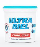Краска водоэмульсионная Ультра-бель Снежка 1,4 кг