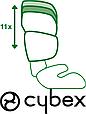 Детское автокресло Cybex Solution X-Fix Cobblestone  2/3 (15-36 кг) 3-12 лет, фото 9