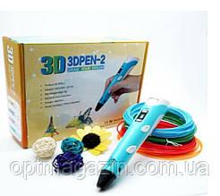 3D-ручка с экраном синяя с пластиком 3D-Ручки для детского творчества