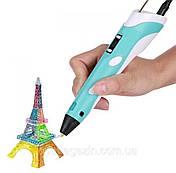 3D-ручка з екраном синя з пластиком 3D-Ручки для дитячої творчості, фото 3