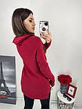 Женский вязаный теплый свитер под горло кашемир размер универсальный 44-48, фото 3