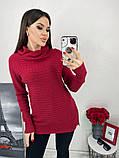 Женский вязаный теплый свитер под горло кашемир размер универсальный 44-48, фото 4