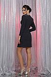 Вечернее платье на запах черный синий Нила, фото 5