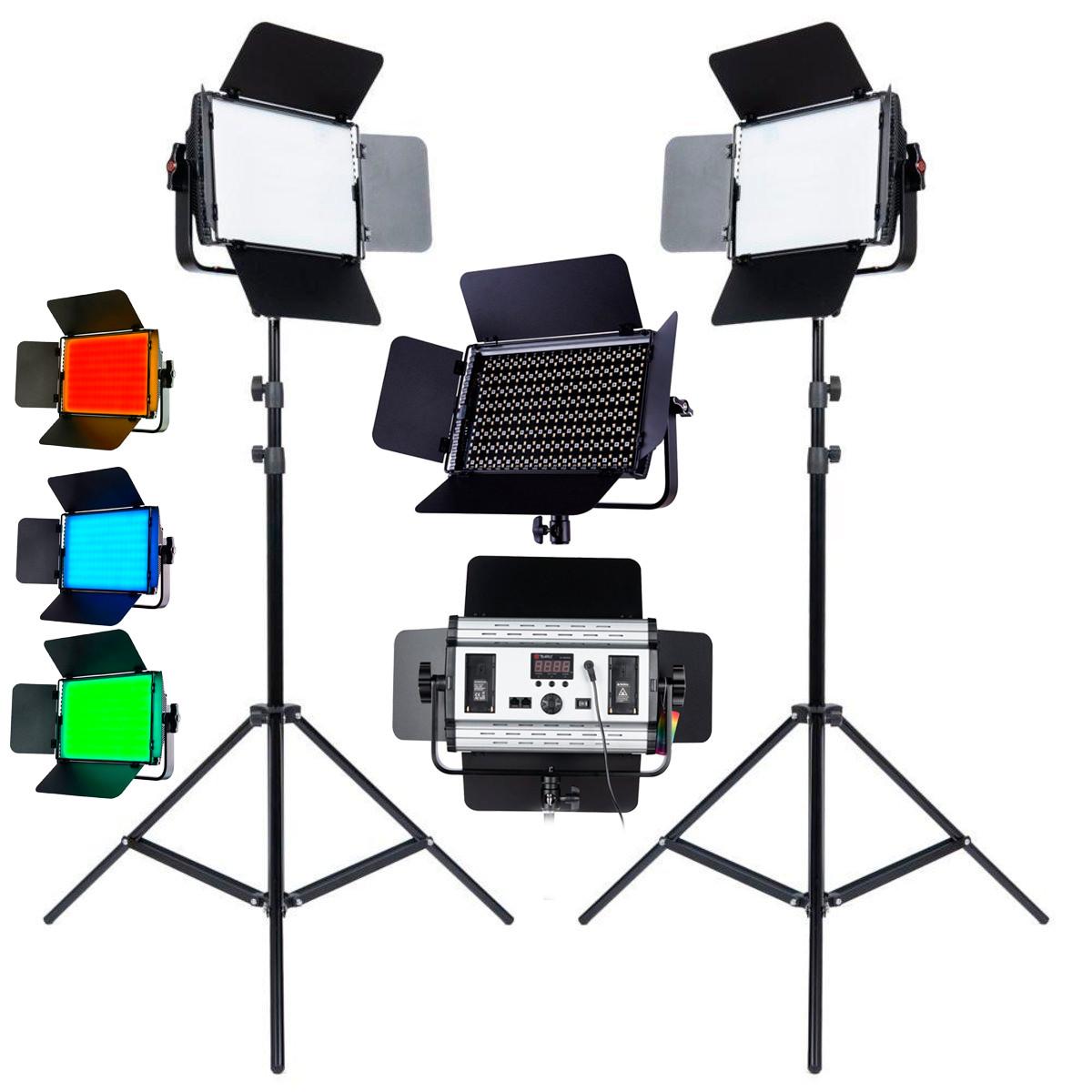 1,2 кВт Набір RGB LED постійного світлодіодного світла TOLIFO GK-S60RGB KIT - панелі 600LEDs 30x19x4,2см, диммер