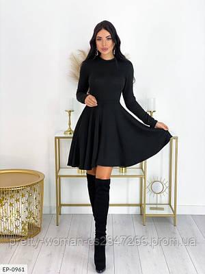 Вільне плаття колір чорний