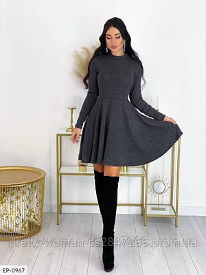 Вільне плаття колір сірий