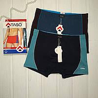 Чоловічі труси боксерки Taso бавовна в упаковці 2 шт Розмір L XL XXL 3XL 4XL