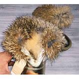 Сапожки детские зимние с опушкой золотистые Размер:27, 30, фото 5