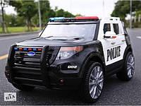 Детский электромобиль Джип Bambi M 3259EBLR-1-2 POLICE EVA кожа откр двери mp3 Громкоговоритель 128см