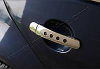 Накладки на ручки с дырками (4 шт., нерж.) Audi A2 1999-2005 гг. / Накладки на ручки Ауди A2