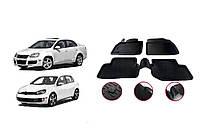 Резиновые коврики (4 шт, Niken 3D) Volkswagen Golf 6 / Резиновые коврики Фольксваген Гольф 6