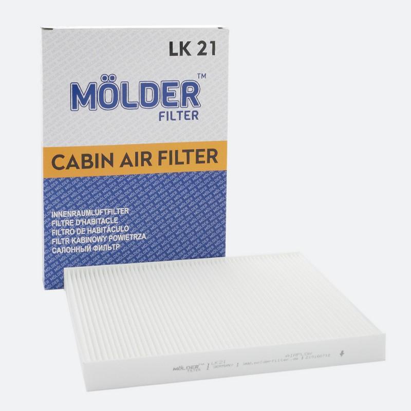 Салонный фильтр MOLDER аналог WP6812/LA31/CU2882 (LK21)