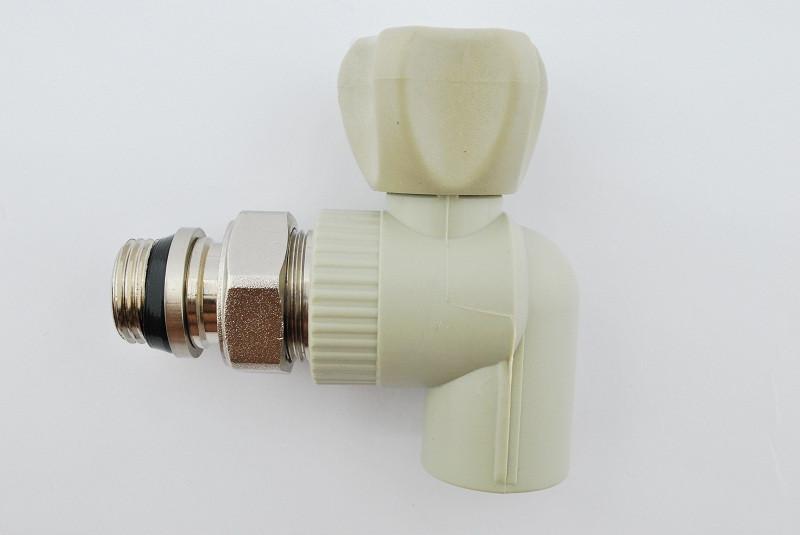 Кран радиаторный угловой с системой антипротечка Koer k0161.pro 20x1/2