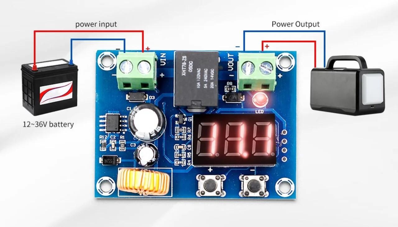 Контроллер разряда аккумуляторной батареи XH-M609, 12-36В