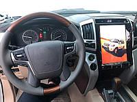 Магнитола GXR 2008-2015 (дизайн Tesla, 12 дюймов) Toyota LC 200 / Штатные магнитолы Тойота Ленд Крузер 200