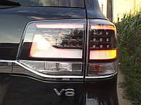 Задняя оптика 2016+ (Executive Black) Toyota LC 200 / Задние фонари Тойота Ленд Крузер 200