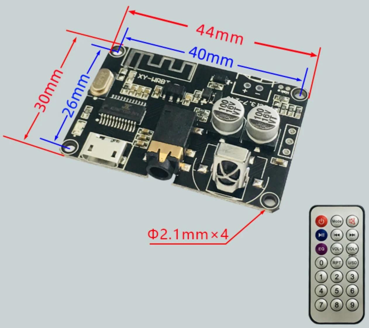 Плата MP3 Bluetooth 5.0 приймач, декодер 3.7-24В XY-WRBT
