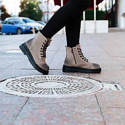 Высокие зимние ботинки со шнуровкой