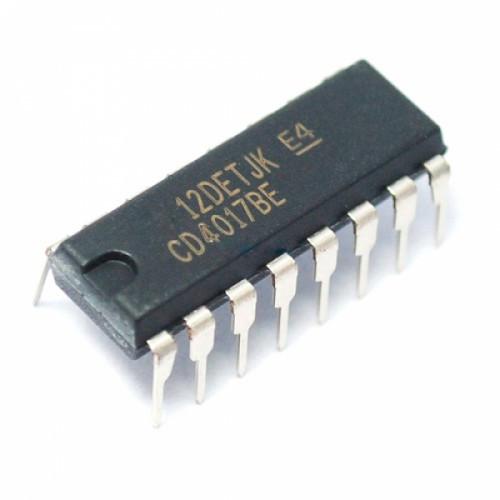 Чип CD4017BE CD4017 DIP16, Счетчик делитель десятичный декадный, 104355