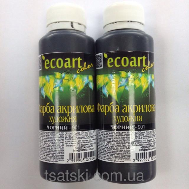 Новинка!!!!! Черная акриловая художественная краска ЭкоАрт 100 мл