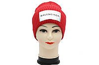 Женская вязаная шапка красного цвета BALENCIAGA, фото 1