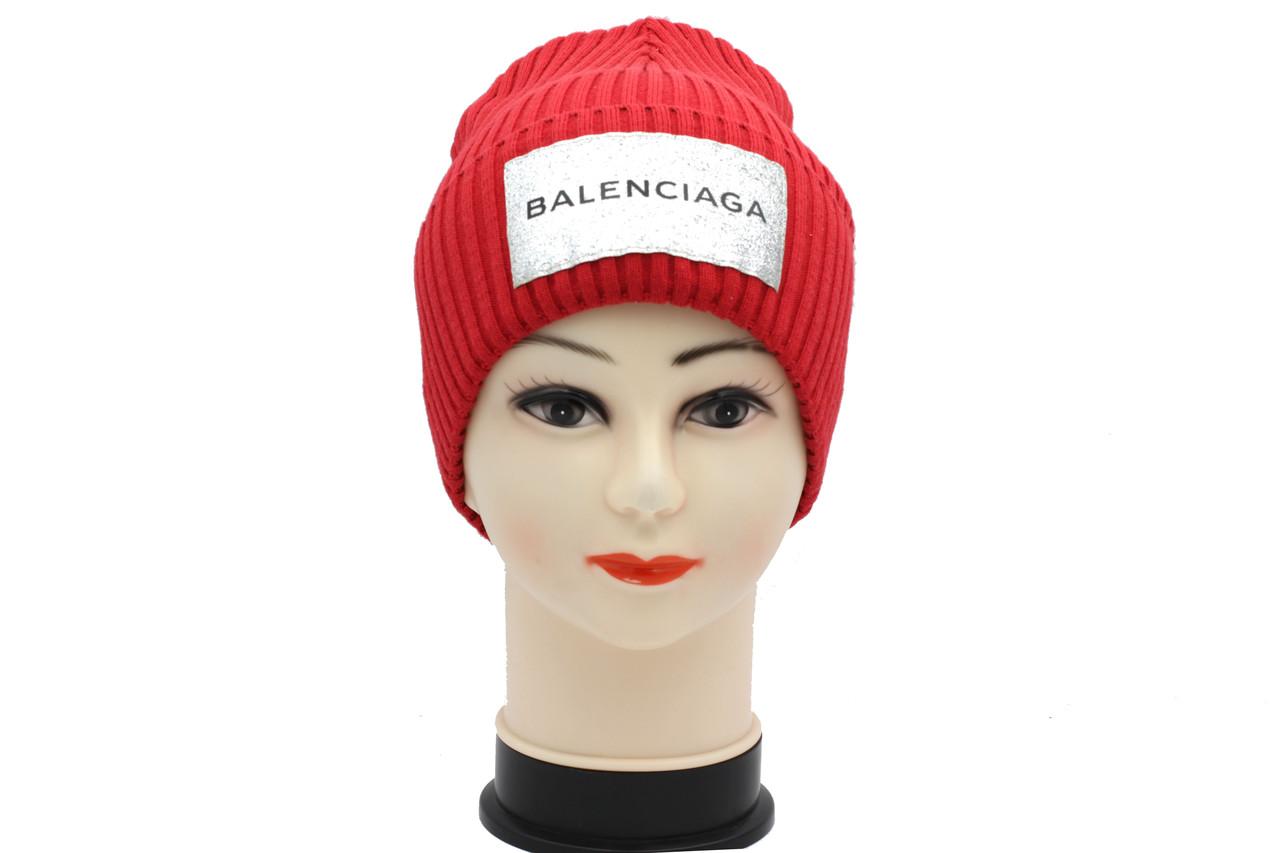 Женская вязаная шапка красного цвета BALENCIAGA
