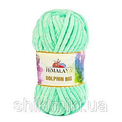 Пряжа плюшевая Dolphin Big, цвет Мята