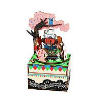 Деревянная шкатулка-конструктор Robotime AM404 Музыкальная шкатулка для детей и взрослых